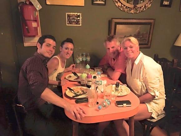 Middag med tangolärarna