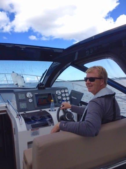 Micke i båt