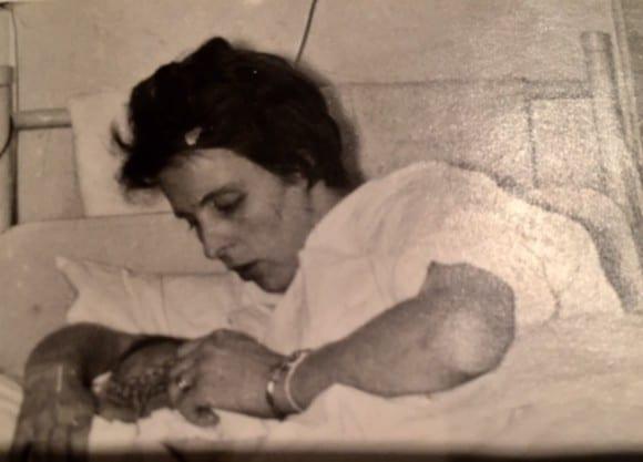 Jag och mamma i slutet av februari 1961