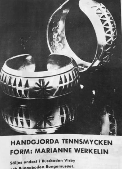 Tennsmycken design Mariane Werkelin