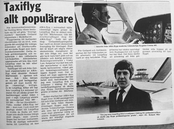 Pappa Lasse var med och drog igång ett konkurrerande flygbolag för att sätta press på monopolisten Linjeflyg och fick på så sätt igång ett priskrig. Känns det igen?