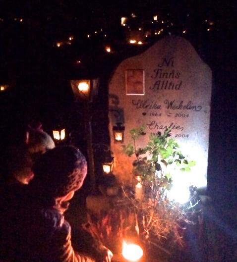 Besök vid graven